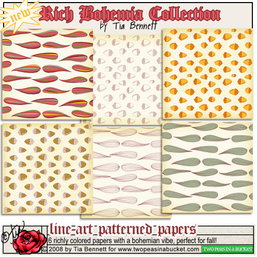 Rich bohemian pattern papers preview_tia_2peas