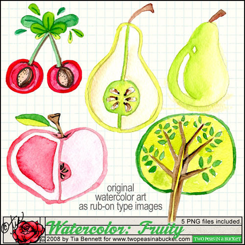 Watercolor fruity preview_tia_2peas